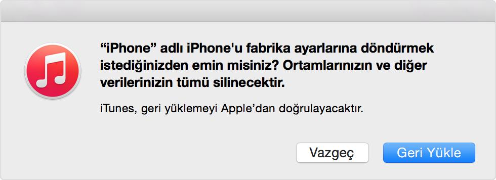 iPhone Sıfırlama