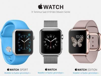 Apple iWatch Türkiye 'de
